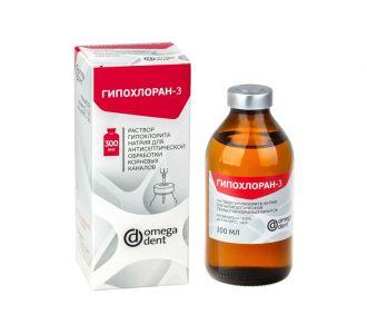 Гипохлоран-3 раствор гипохлорида Na 3,25% 300мл