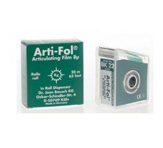 Артикуляционная фольга Bausch Arti-Fol BK 1022 зеленая односторонняя, 20м х 22мм