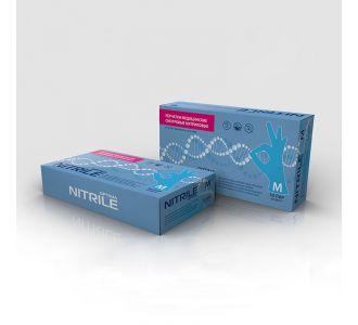 Перчатки нитриловые голубые размер S, 100 шт, mediOK
