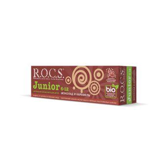 Зубная паста ROCS Junior Шоколад и карамель 74 гр